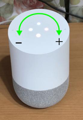 GoogleHome音量調整